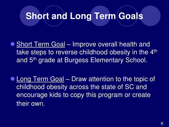 Short Term Goals : Ppt burgess elementary school healthy food choices