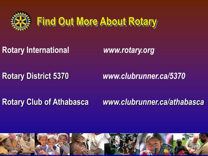 Find Out More About Rotary