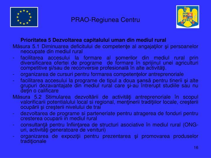 PRAO-Regiunea Centru