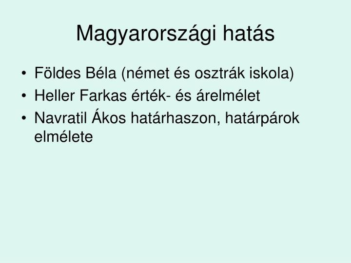 Magyarországi hatás