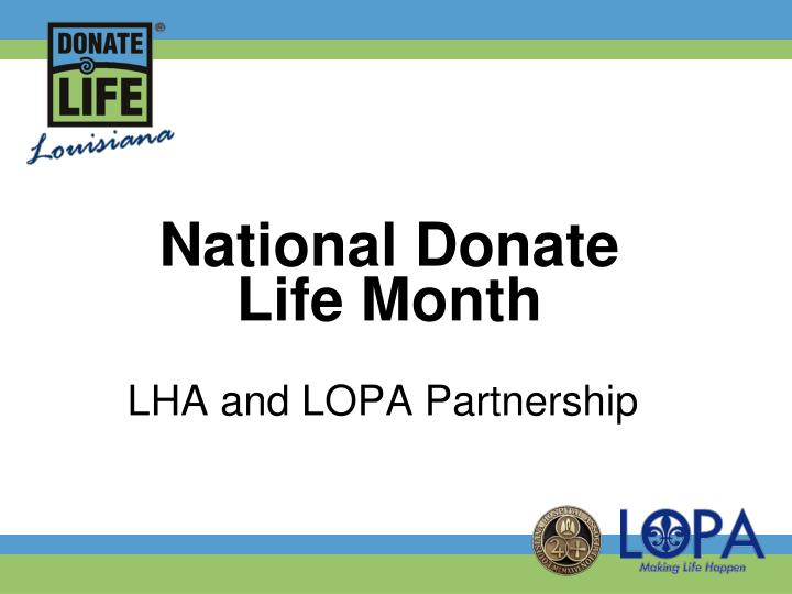 national donate life month n.