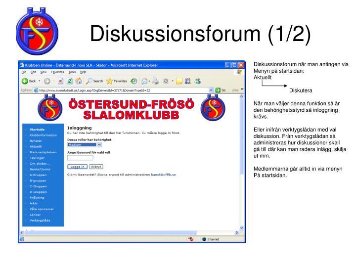 Diskussionsforum (1/2)