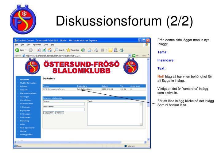 Diskussionsforum (2/2)