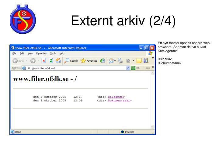 Externt arkiv (2/4)