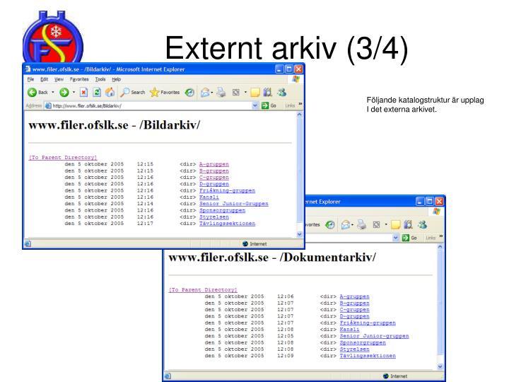 Externt arkiv (3/4)