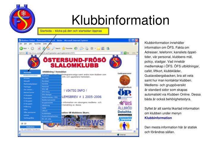 Klubbinformation