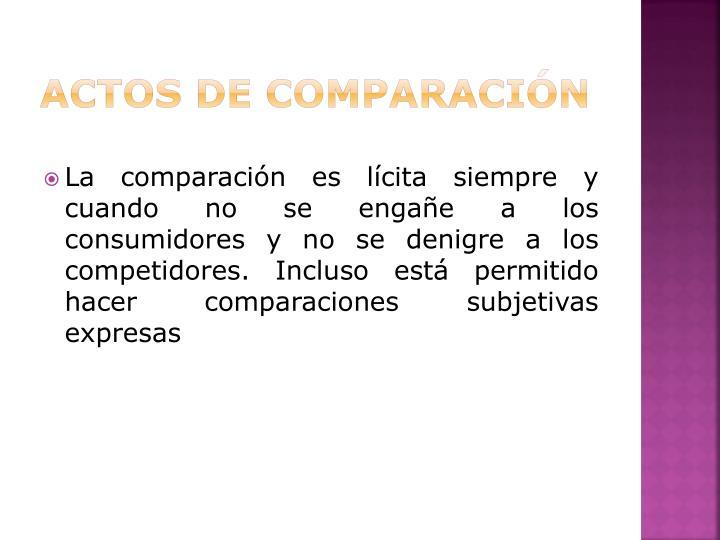 ACTOS DE COMPARACIÓN