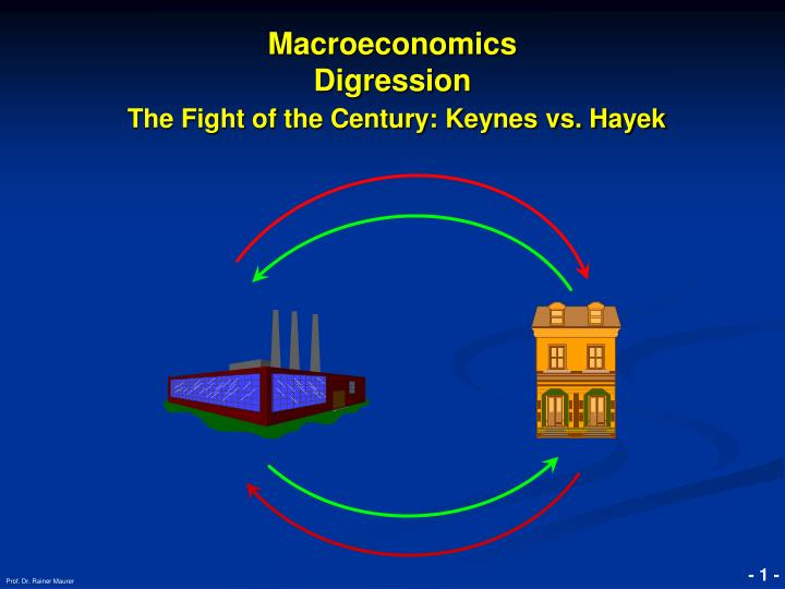 macroeconomics digression the fight of the century keynes vs hayek n.
