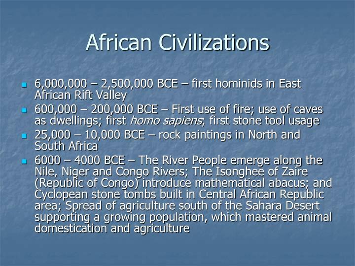 African Civilizations