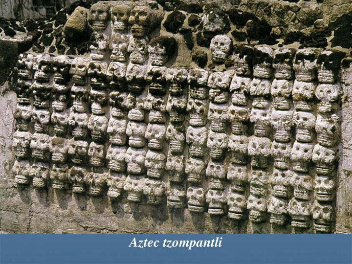 Aztec tzompantli