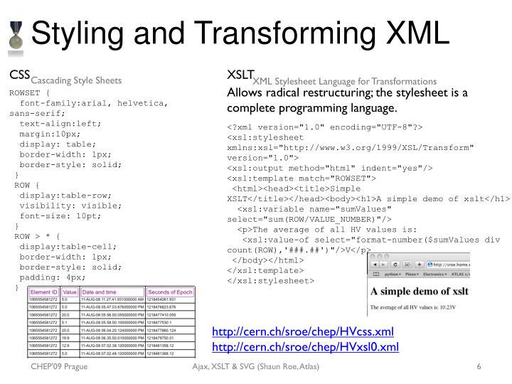 Styling and Transforming XML