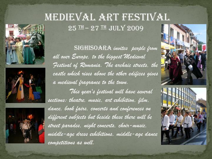 MEDIEVAL ART FESTIVAL