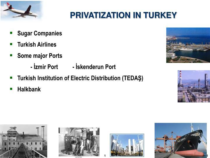 PRIVATIZATION IN TURKEY