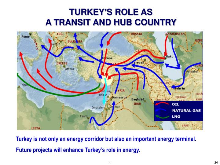 TURKEY'S ROLE AS                                                  A TRANSIT AND HUB COUNTRY