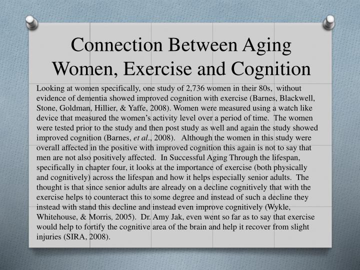 Connection Between Aging Women, Exercise and Cognition