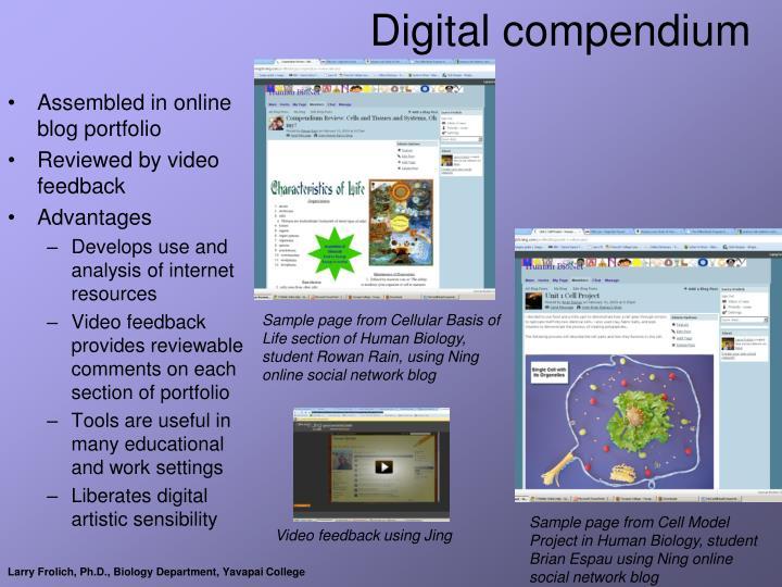 Digital compendium