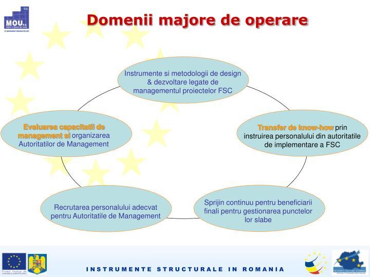 Instrumente si metodologii de design & dezvoltare legate de managementul proiectelor FSC