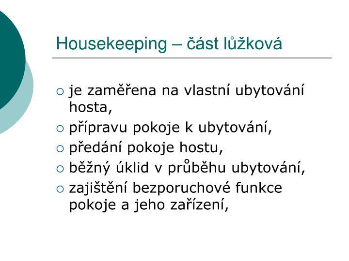 Housekeeping st l kov
