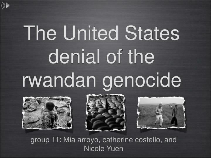 """social identity and the us versus them mentality throughout the rwandan genocide Characteristics of genocide thank you for your attention the rwandan genocide, 1994 death toll: """"us versus them"""" bipolar societies."""