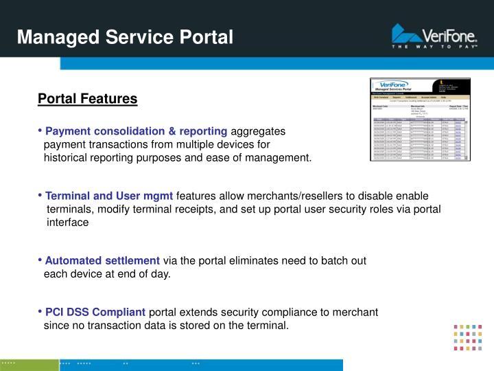 Managed Service Portal