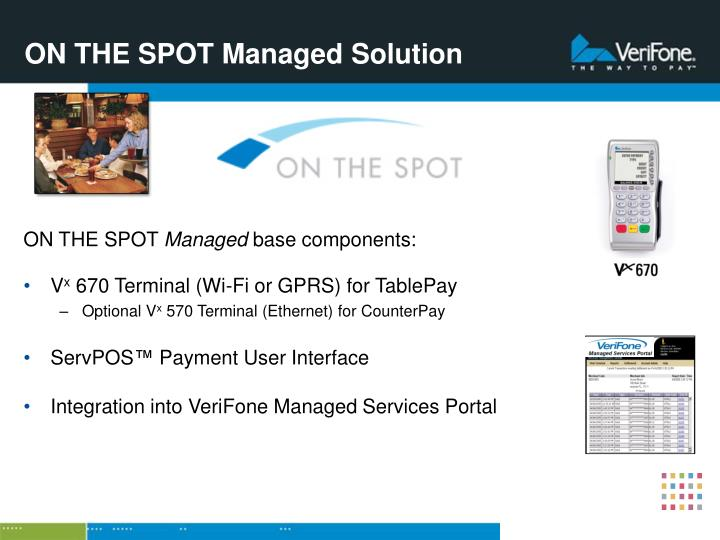 ON THE SPOT Managed Solution