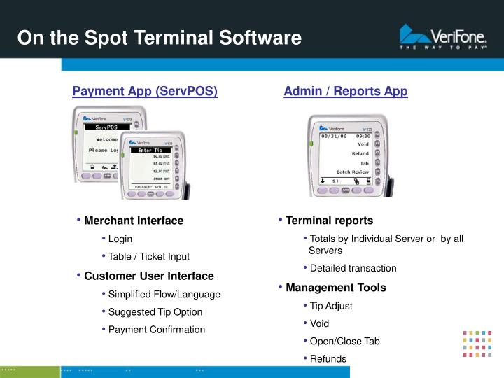 On the Spot Terminal Software