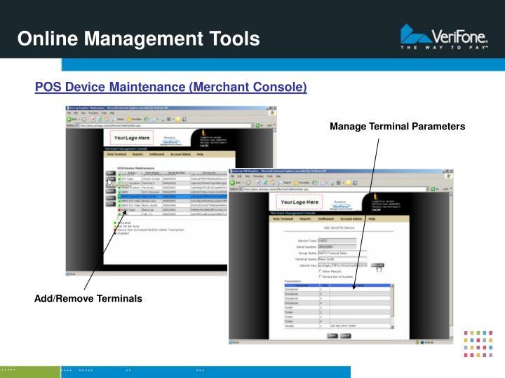 Online Management Tools