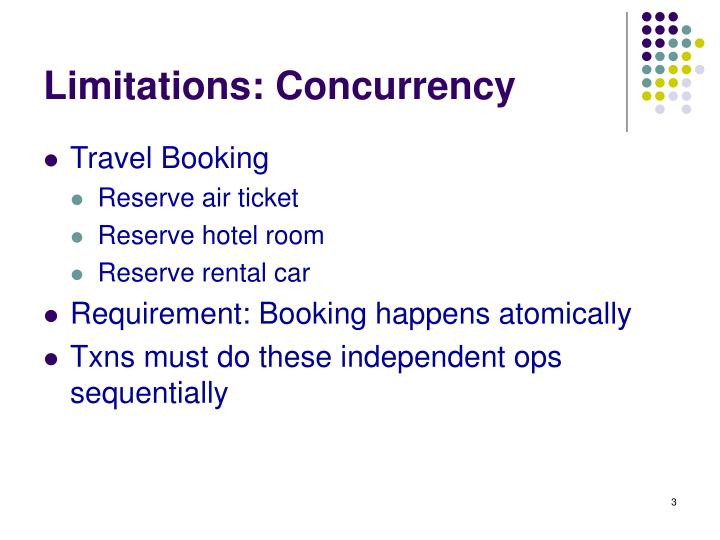 Limitations concurrency
