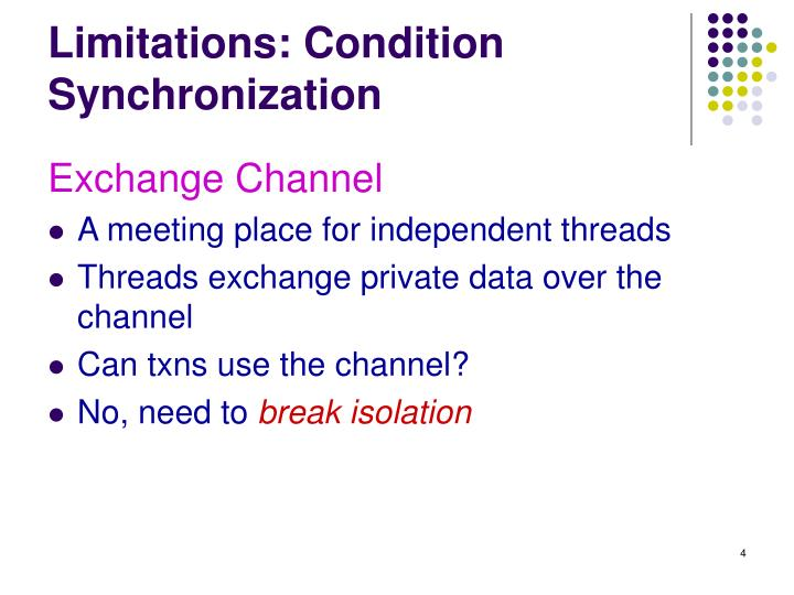 Limitations: Condition Synchronization