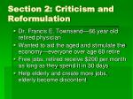 section 2 criticism and reformulation