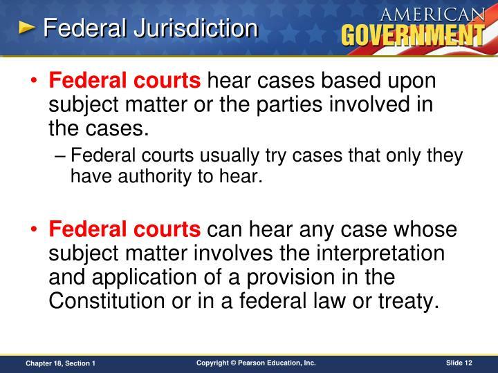 Federal Jurisdiction