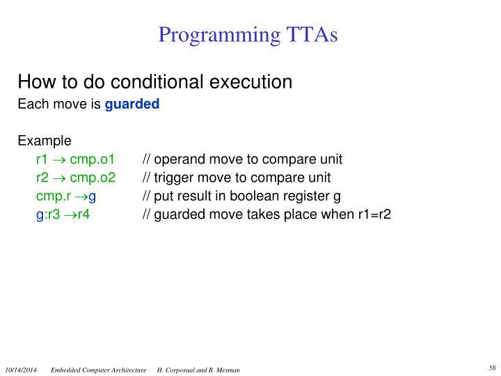 Programming TTAs