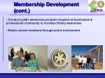 membership development cont