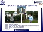 a great new resource for researchers