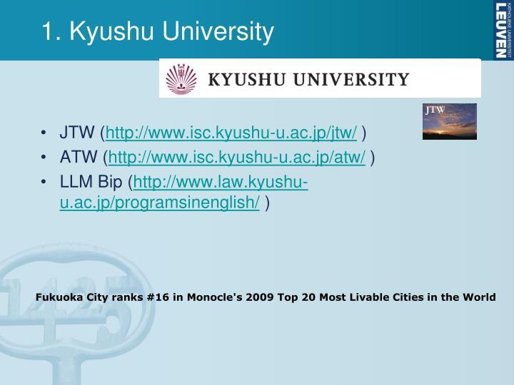 1. Kyushu University