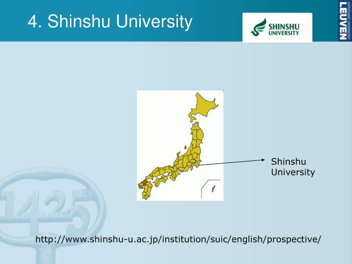 4. Shinshu University