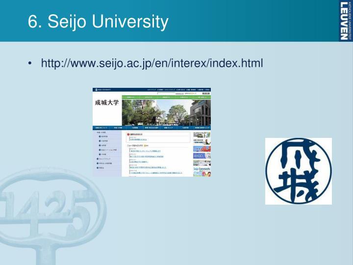6. Seijo University