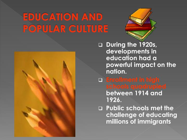 culture's impact on education and development Culture influences education in many ways here the individualist and collectivist cultural perspectives on education are compared.