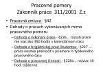 pracovn pomery z konn k pr ce 311 2001 z z