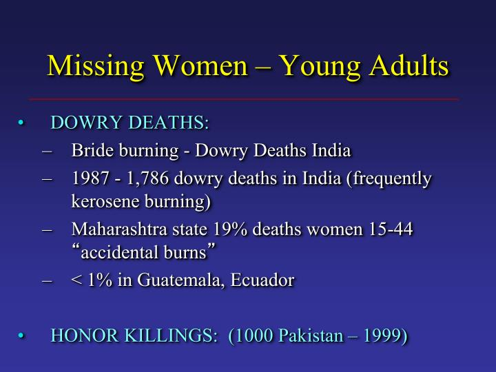 Missing Women – Young Adults