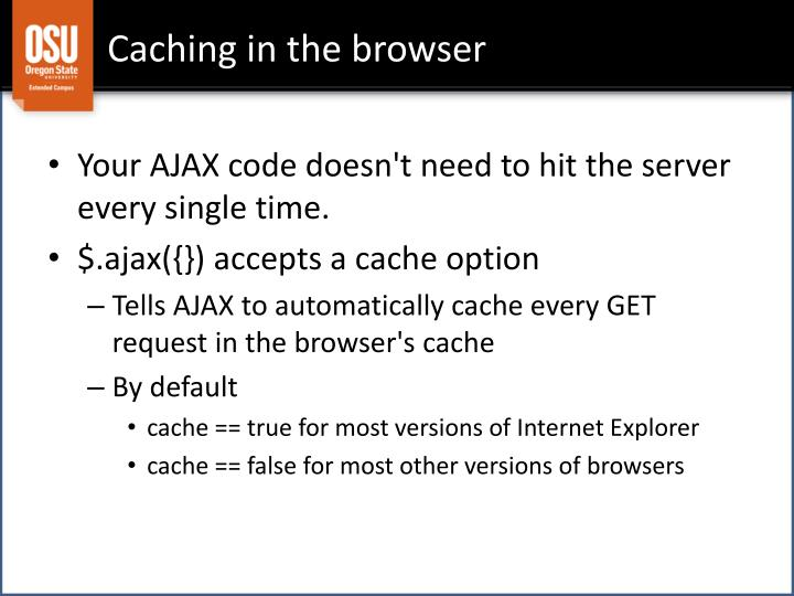 Caching in the browser