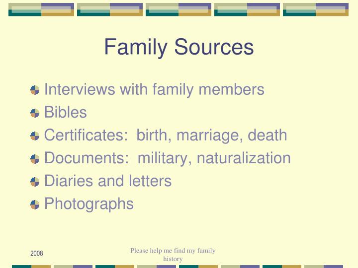 Family Sources
