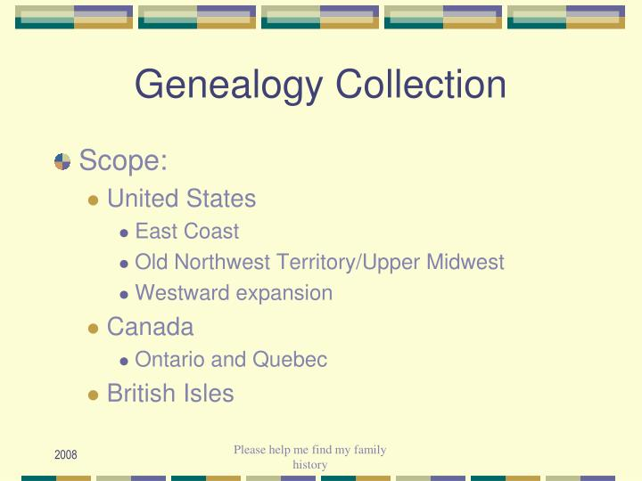 Genealogy Collection