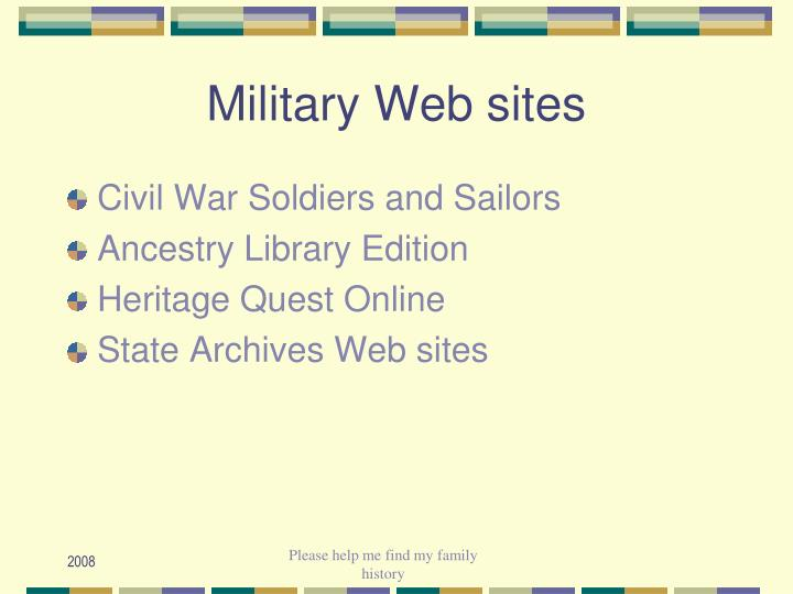 Military Web sites