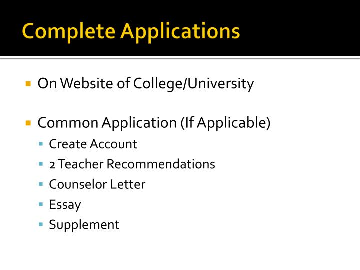 Complete Applications