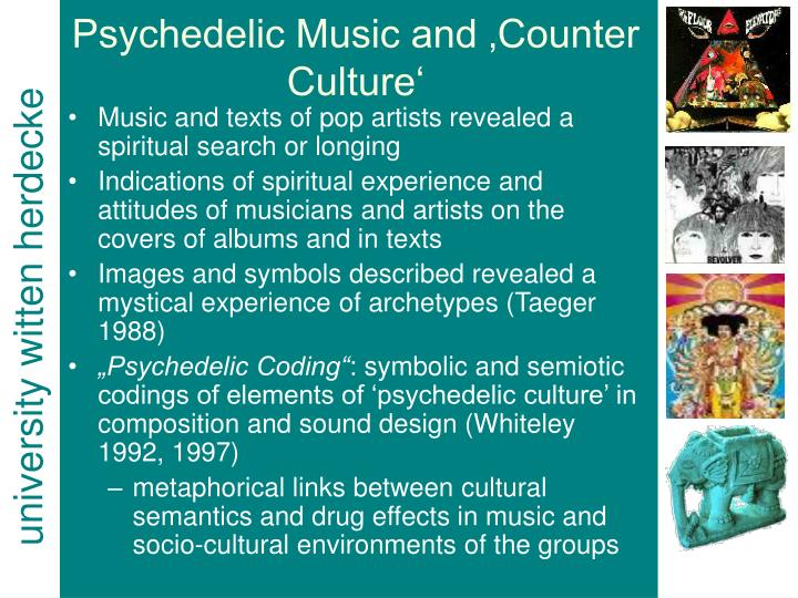 Psychedelic Music and 'Counter Culture'