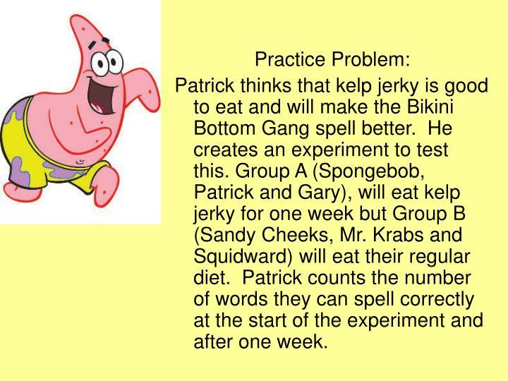 Practice Problem: