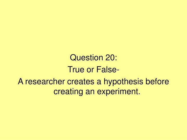 Question 20:
