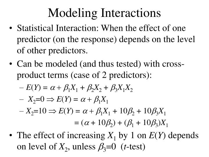 Modeling Interactions