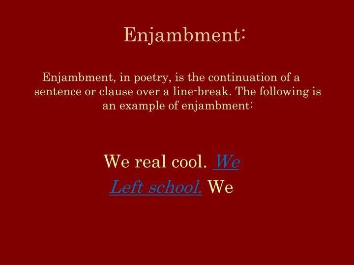 Ppt We Real Cool A Poem By Gwendolyn Brooks Powerpoint